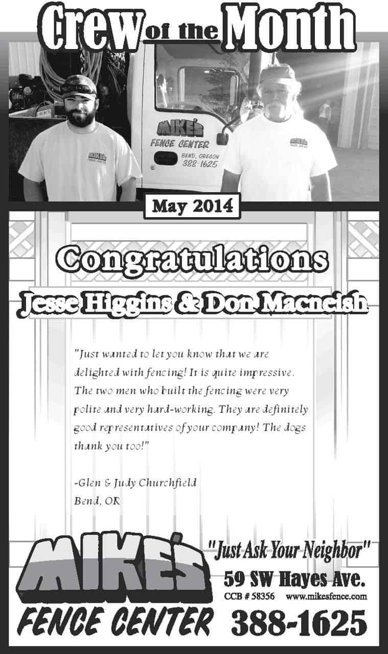 May Crew of the Month 2014