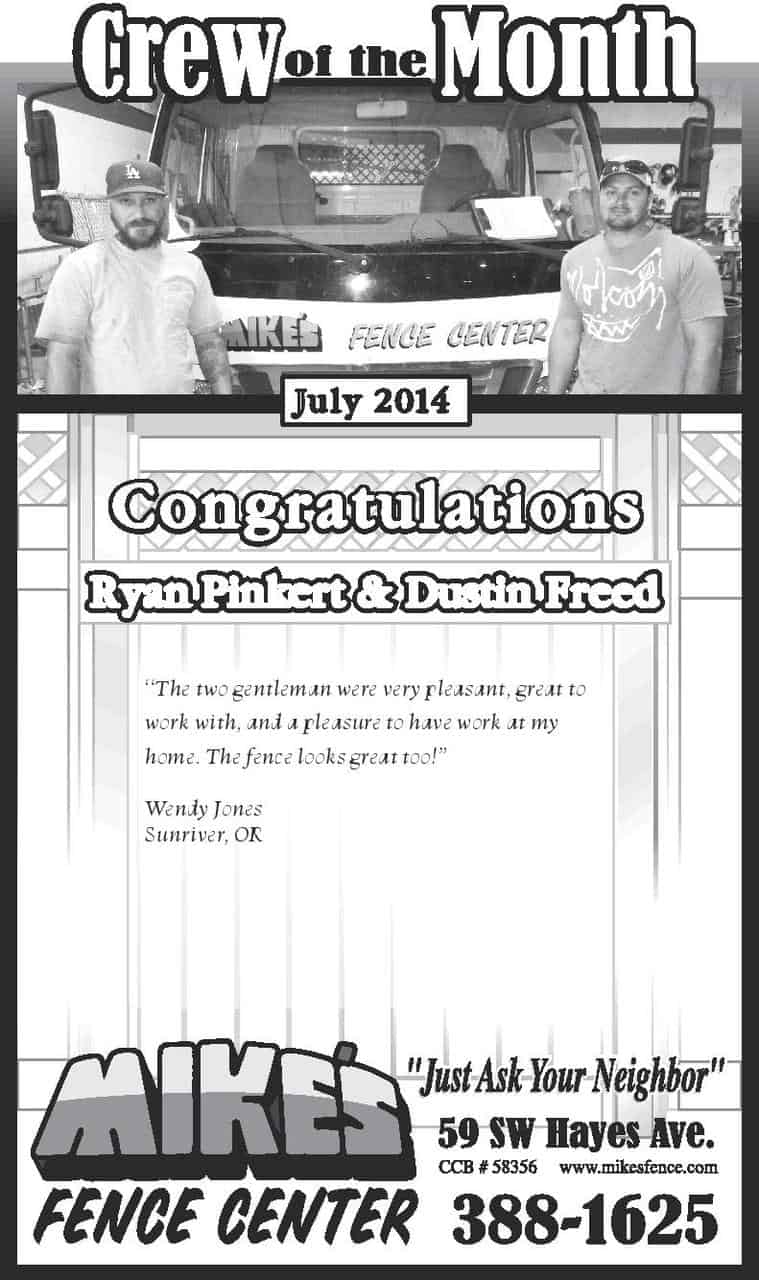 July Crew of the Month 2014