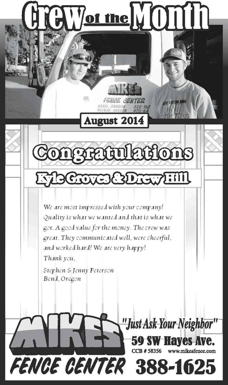 August Crew of the Month 2014