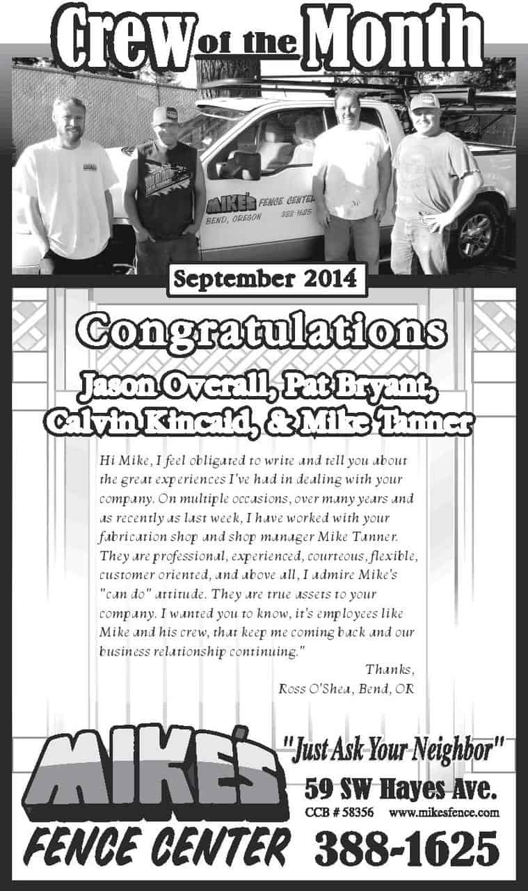 September Crew of the Month 2014