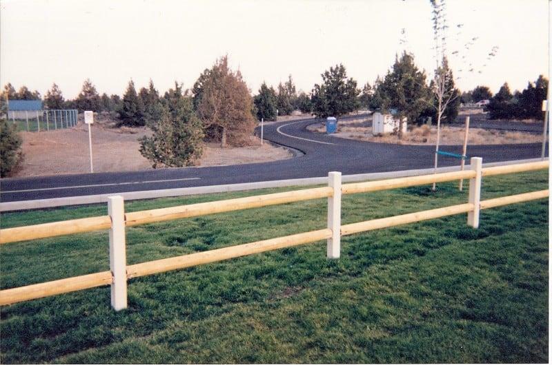 2- Rail Wood on Steel Post