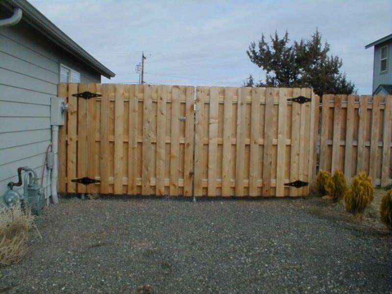 Cedar Double Drive Gate