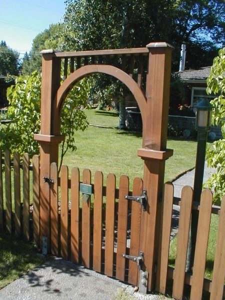 wooden arched fence gate 1