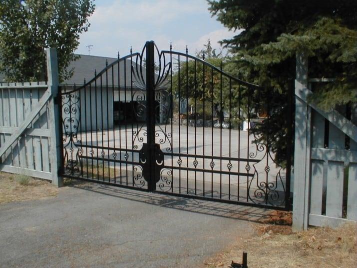 Custom Ornamental Iron Gate 43