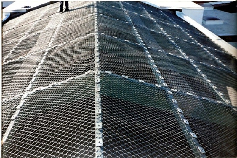 County Jail Chainlink Roof