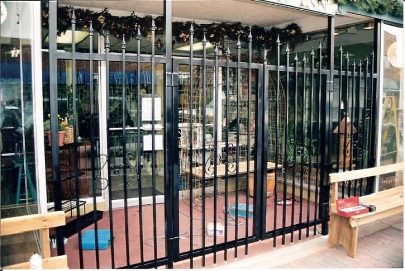 Custom Ornamental Iron Store Front Fencing