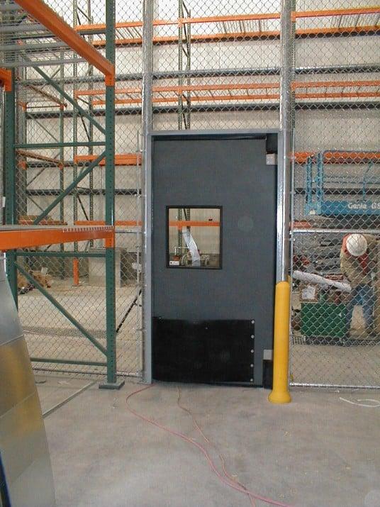 Industrial Chainlink W/Chase Door