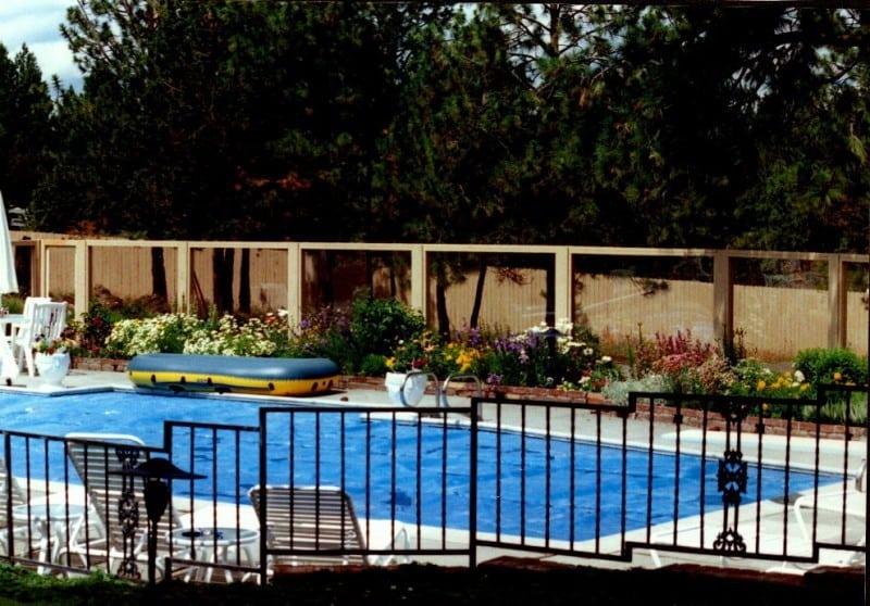 Ornamental Iron Pool Area