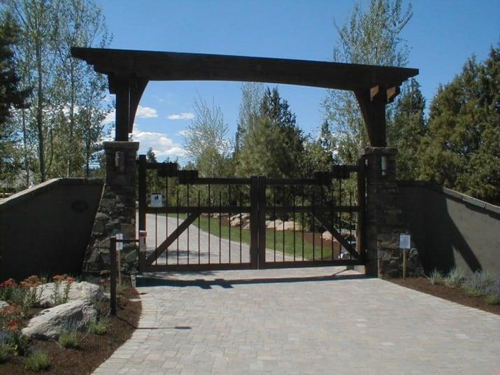 Custom Ornamental Iron Gate 17