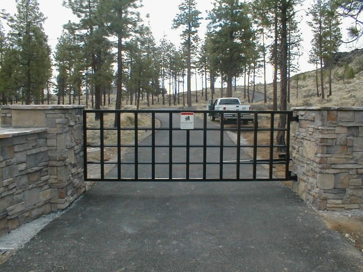 Custom Ornamental Iron Gate 11
