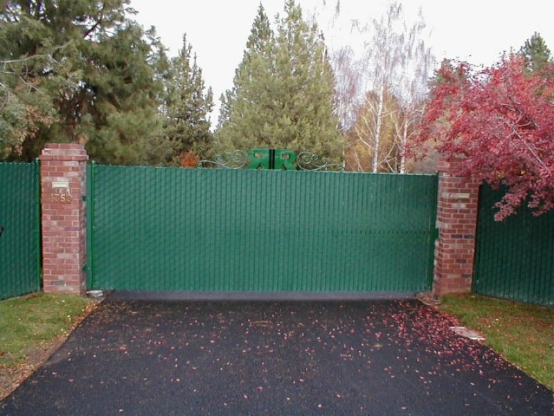 Green Chainlink Gate