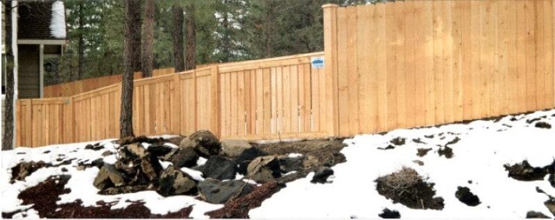 Solid Cedar Fencing