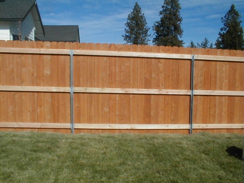 Basic Cedar Fence Installed on C-Post
