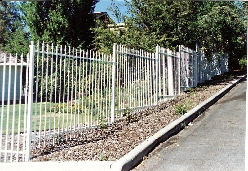 White Modern Ornamental Fence W/Finials