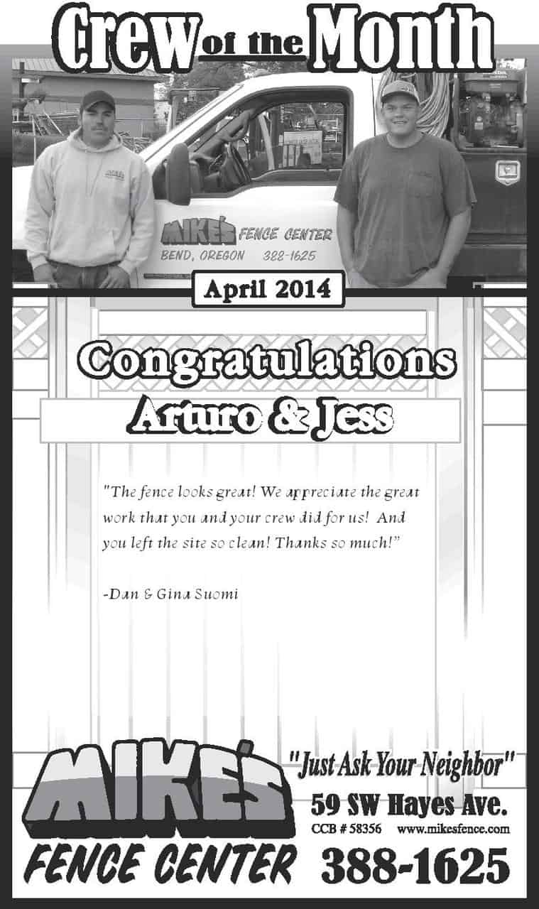 April 2014 Crew of the Month