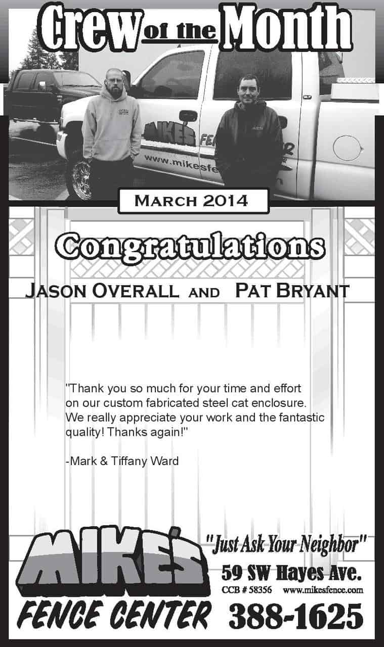 March 2014 Crew of the Month